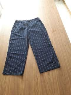 Ankle straight pants