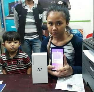 Samsung A7 2018,Kredit HP/Iphone murah tanpa CC cm 3menit aj