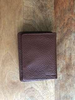 Cole Haan Leather Card Holder with Money Clip