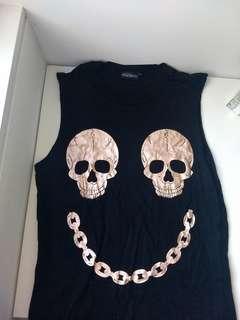 Oversized Skull Singlet