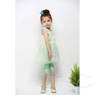 Girl's leggings (Green)