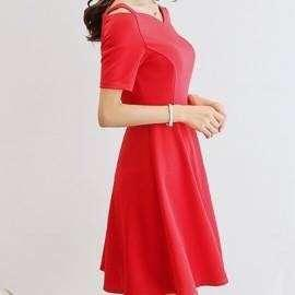 Sophia V Neckline Plain Dress 221RX PHP450