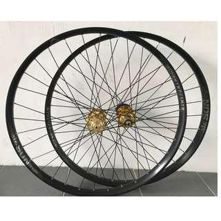 Professional Custom hand Built Taiwan FasTace DA01 Loud /Smooth hubs with Sun Ringle DUROC 40 Rims (27.5er) #Trail Wheel #ENDURO