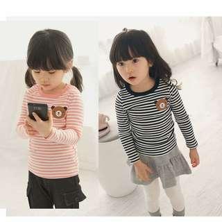 Girl's long sleeve shirt (Pink)