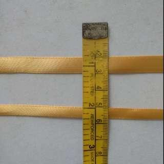 Gold ribbon - by meter- 2 size available