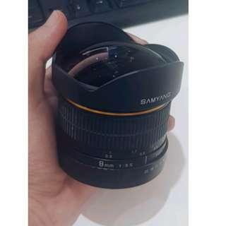 Canon Fisheye Lens Samyang 8mm f3.5