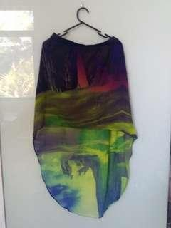 Colourful High Low Skirt