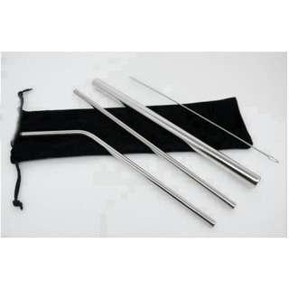 Stainless Steel Straws ( one set ) - READY STOCK