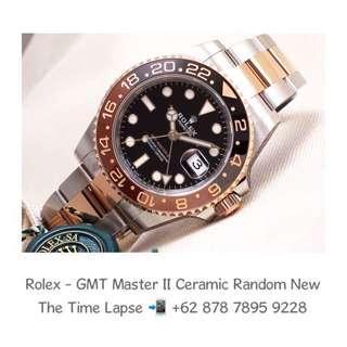 Rolex - GMT Master II Brown & Black Ceramic Steel & 18K Rose Gold 'Random' (New in Box)