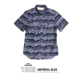 🚚 G-star 藍迷彩 襯衫 9.5成新 原價5800 Xl