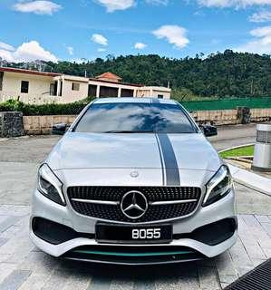 SEWA BELI  MERCEDES BENZ AMG A250 SPORT PETRONAS EDITION YEAR 2016 MONTHLY RM 2500 BALANCE 6 YEARS 10 MONTHS ROADTAX DEC 2019 UNDER WARRANTY MERCEDES LIMITED EDITION 4 DRIVING MODE TIPTOP CONDITION  DP KLIK wasap.my/60133524312/a250