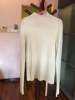 Uniqlo ribbed shimmer sweater