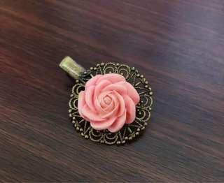 🚚 手工製作 玫瑰髮夾