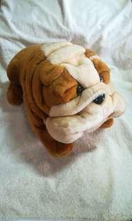 Vintage Plush Bulldog Toy