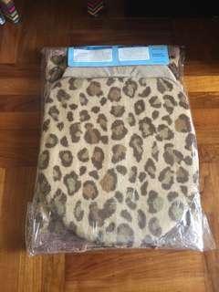 豹紋坐廁地毯&套1set