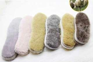 Winter shoe insole for kids (real sheep fur)
