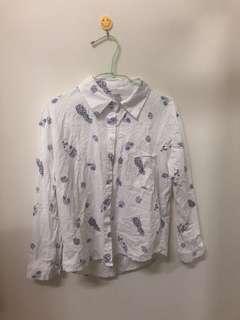 可愛鳳梨印花襯衫