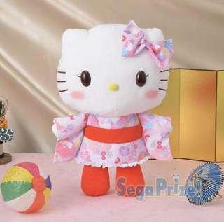 Sega 最新和服Hello Kitty 大公仔$120 一個