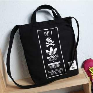 ⚡SALE⚡ [PO] ADIDAS Original by The Neigborhood Two Way Carry Sling Tote Bag (Black) PO111500183 *GWP Japanese Magazine* + FREE Post