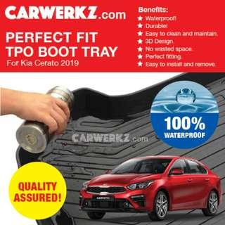[SG Best] Kia Cerato Forte 2019 3rd Generation (BD) Perfect Fitting Most Durable TPO Boot Tray