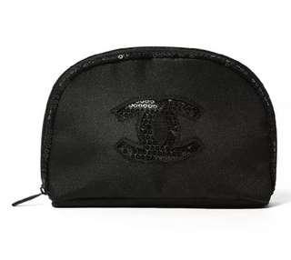 Chanel 化妝袋💕閃片Logo