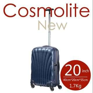 Samsonite LITE-SHOCK universal wheel rod box fashion suitcase 20 inches Cosmolite