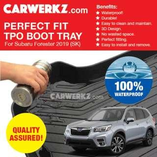 [SG Best] Subaru Forester 2019 5th Generation (SK) Perfect Fitting Most Durable TPO Boot Tray