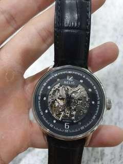 Jam tangan relic skeleton