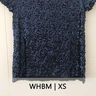 WHBM Baju dengan Manik Biru Blink-Blink | Blouse Navy Unik
