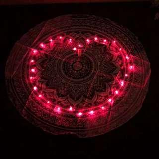 Romantic Picnic - Round Tapestry Mat & Lights