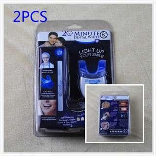 2pcs Dental Cleaner Beautiful Dental Instrument Oral Care Cold Light Teeth Whitening Whitening Pen-intl