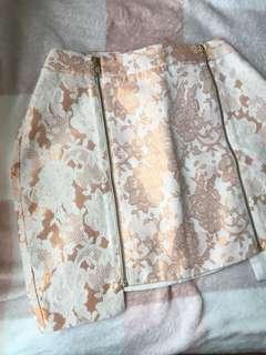Rose Gold Brocade Skirt
