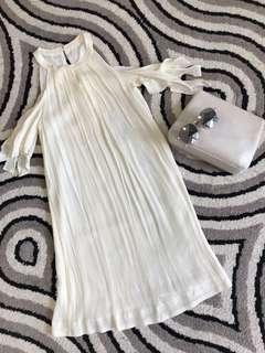 Saturday Club Cream chiffon dress