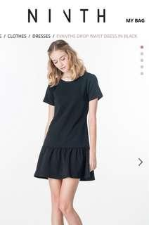 Pre loved Ninth Collective Drop Waist Dress in Black