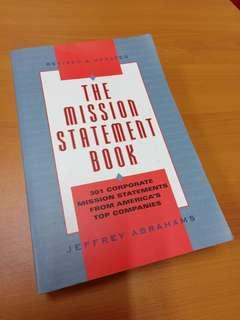 Mission Statement book