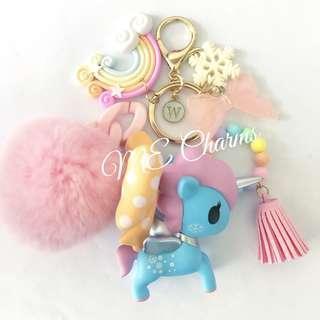 Tokidoki X Pop Mart Unicorno Snowflake Bag Charms / Fobs