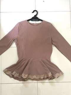 Peplum Blouse with lace