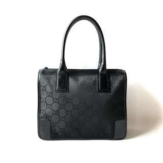 FAST DEAL! Preloved Gucci Black Nylon (30 x 11 x 24 cm) with cards & replacement dustbag