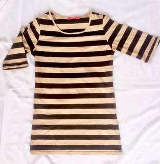 Stripes brown shirt