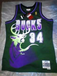 NBA  RAY ALLEN JERSEY MILWAUKEE BUCKS