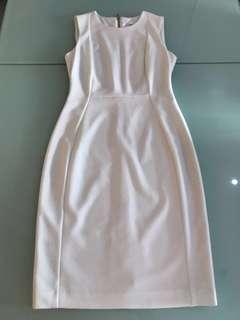Calvin Klein White Dress Knee Length