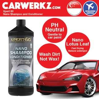[Professional Car Wash] English Brand Xpert 60 Nano Shampoo and Conditioner