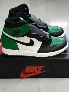2ac5b0dfb52324 US 10.5 Nike Air Jordan 1 Pine Green