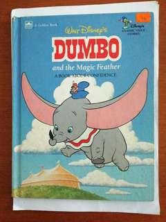 Golden Book. Walt Disney's dumbo and the magic feather children's book.