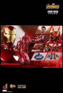(Last Slot) *PO* Hot Toys Movie Masterpiece DIECAST Avengers Infinity War Iron Man Mark 50 Diecast 1/6 scale collectibles