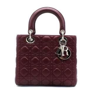 (RARE) Christian Dior Patent Medium Lady Bag (Red)