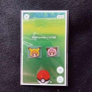 🍂Baekhyun Pokemon EMW Sticker Set