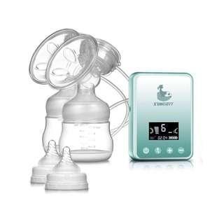 1873. SUMGOTT Rechargeable Digital LCD Display Dual Silicone Breastfeeding Pump