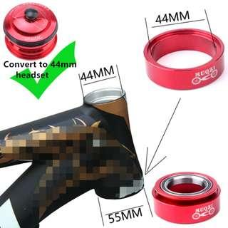 💯🆕Tapered 56mm to 44mm Straight Head Tube MTB Conversion Adaptor kit for MTB upgrade