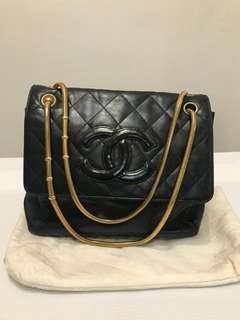 Preloved  Chanel Shoulder Bag Black GHW #4  DB Holo